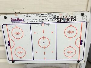 "Hockey dry erase coach board 15""x24"""