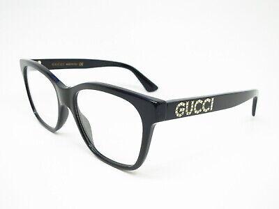 New Authentic Gucci GG0420O 001 Black Eyewear Eyeglasses 52mm (Gucci Eyewear Womens)