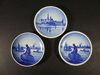 Lot of 3 Vintage Royal Copenhagen Small Dishes Langelinie & Kronborg