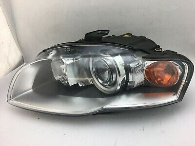 2005 2006 2007 2008 Audi A4 S4 Left Headlight Xenon HID OEM Complete Tabs Good
