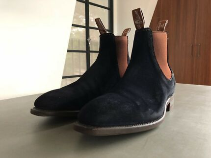 R.M. Williams Boots Navy Blue Suede Size 10.5G (Worn Once)