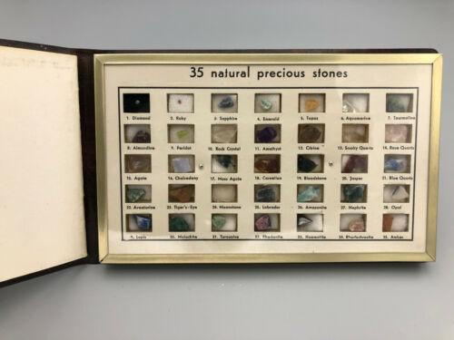 Display Booklet of Uncut Precious Gem Specimans  -A pocket guide to gemstones