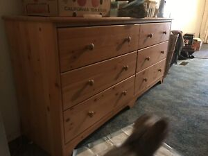 Dresser with 6 drawers  , pending on pick up.