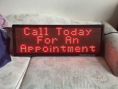 Led Sign Full Color Scrolling Programmable Message Board 14x40