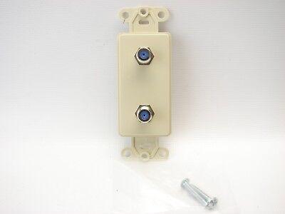 Leviton 40682-I CATV Video Decora Insert Flush Mount Jack Ivory LOT OF 6 (415) - Leviton Decora Insert Flush Mount