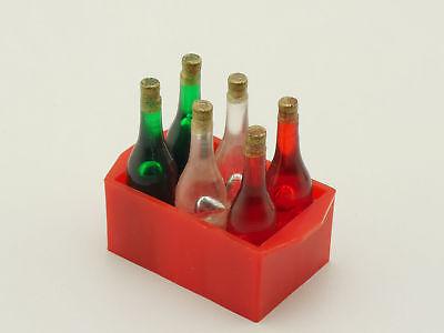 Getränkekiste Ladegut Blechspielzeug mit 6 Flaschen Kaufladen STG 1605-05-66