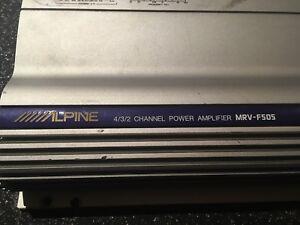 Alpine MRV-F505 amplifier