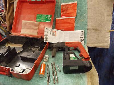 Hilti Te10a Rotary Hammer Drill 36v Cordless Case Carbide Bits Lube Te 10 A