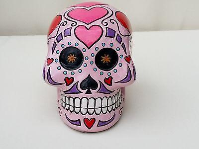 Totenkopf Sugar Skull Deko Schädel Spardose Rockabilly Gothic Dekoration Tattoo
