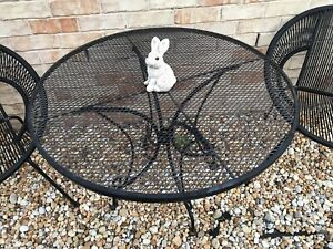 Wrought Iron Outdoor Table & Chairs