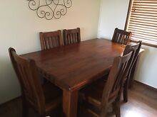 Solid wood dining table Cowra Cowra Area Preview