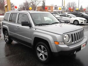 2016 JEEP PATRIOT HIGH ALTITUDE 4X4- POWER GLASS SUNROOF, LEATHE