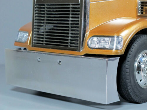 Custom Aluminum Polished Front Bumper Tamiya 1/14 King Grand Knight Hauler Globe