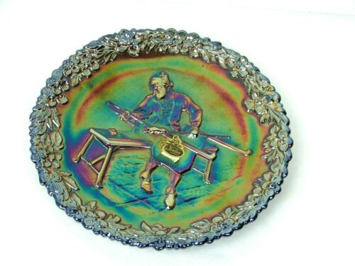 Vintage Fenton Carnival Glass Collector Plate No. 1 Craftsman Series 1970
