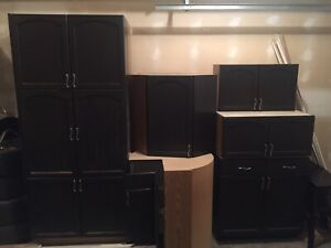 Cabinets, oven, range fan, deep freeze, interior doors