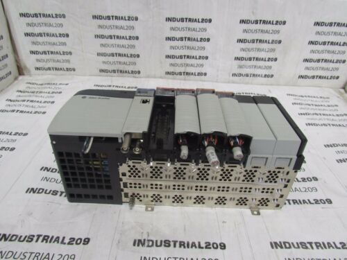 ALLEN BRADLEY 1756 7 SLOT RACK WITH MODULES USED