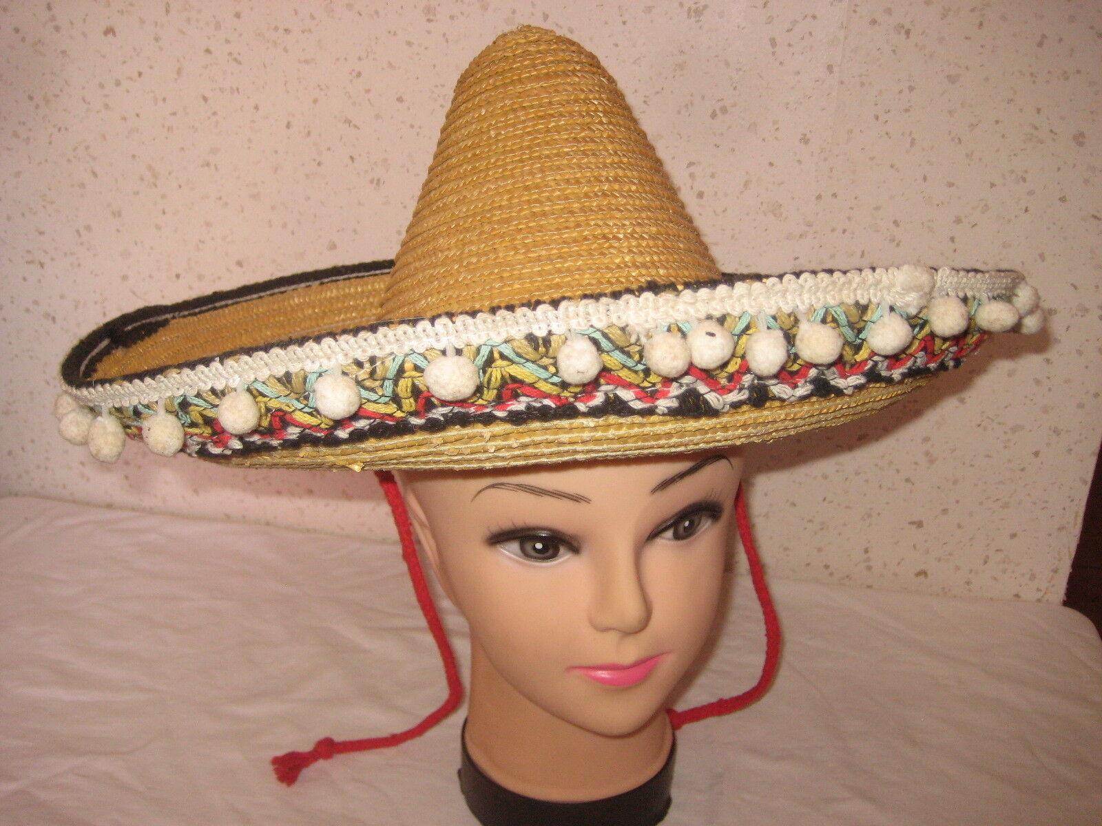 Chapeau mexicain en paille