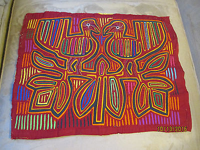 Kuna Indian Hand-Stitched Decorative Mola From San Blas Island Panama