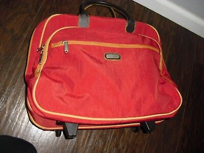 Baggallini Rolling Tote Carry On Bag Red & Yellow Wheeled Suitcase - Baggallini Tote Rolling Tote