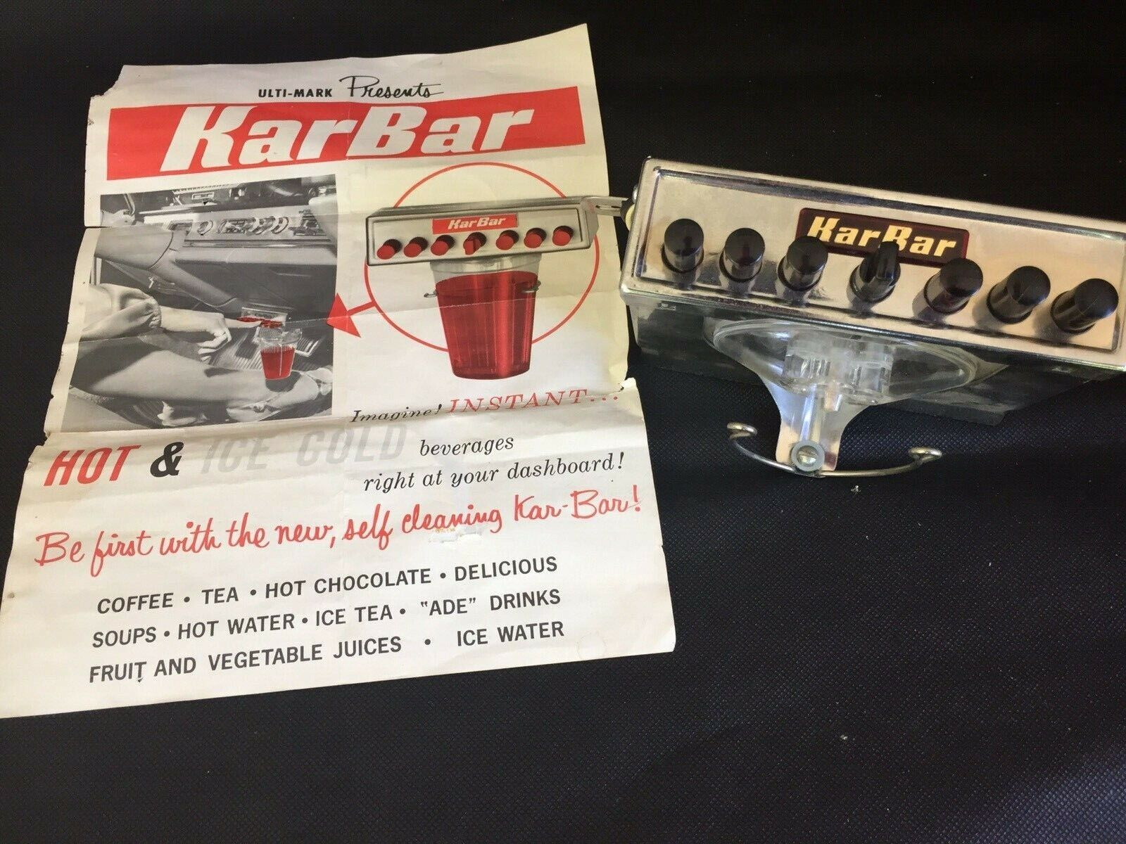 VINTAGE NOS IN BOX HOT/COLD KARBAR KIT CRAZY COOL LATE 1950'S-60'S ACCESSORY