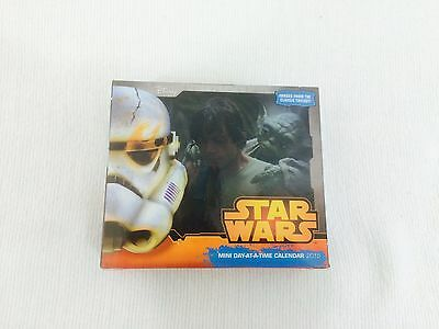 Star Wars  2015 Mini  Day At A Time Calendar W  Stand