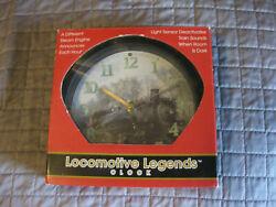Locomotive Legends Steam Engine Train Sound Wall Clock by Mark Feldstein (LOT#E1