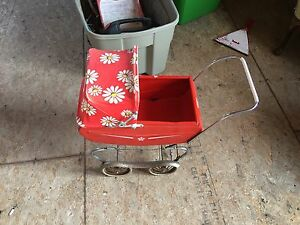 Vintage baby carriage toy