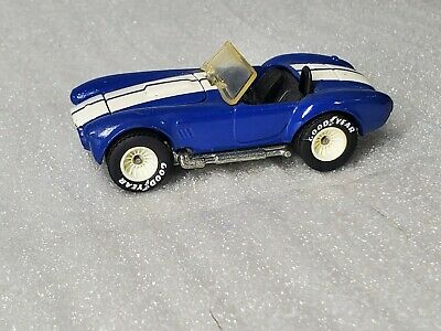 VINTAGE HOT WHEELS 1982 CLASSIC COBRA 427/SC SHELBY BLUE REAL RIDERS WHITE HUB