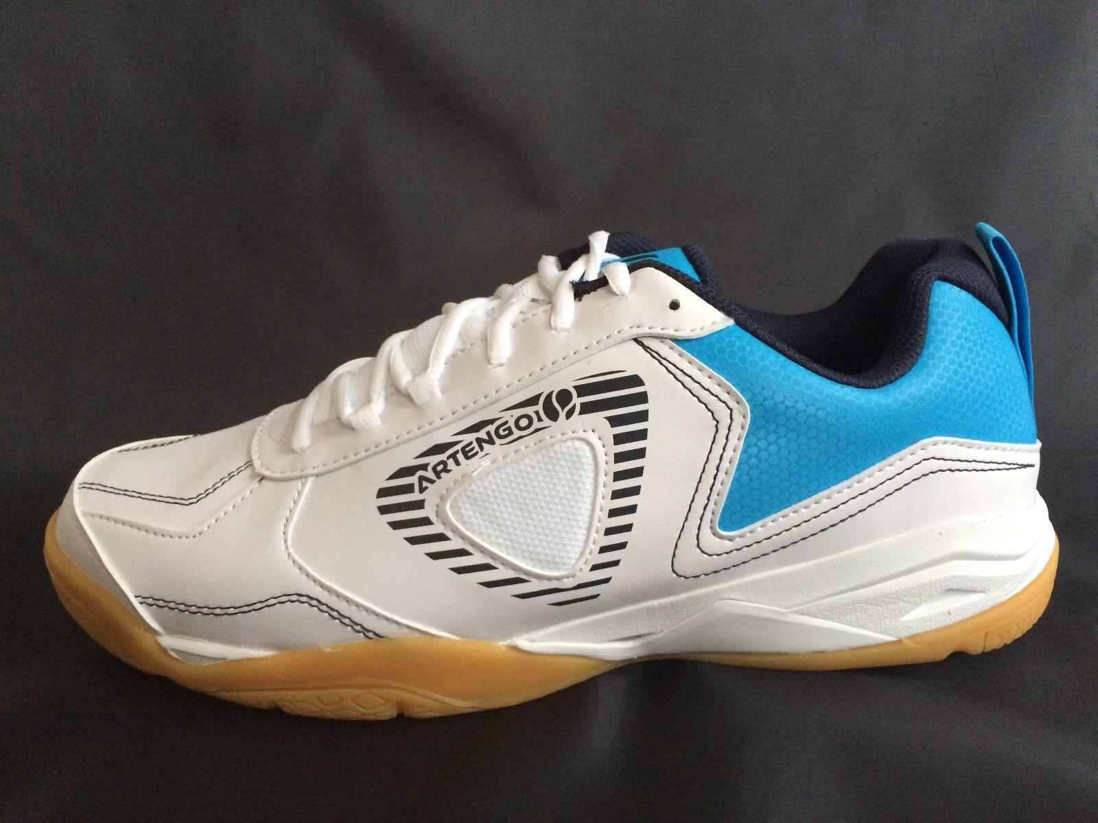 ARTENGO BS720 Hallenschuhe Badminton Squash Herren 45 46 47 48 Turnschuhe weiß