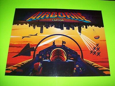 Capcom AIRBORNE 1995 Original Pinball Machine Translite Art Sheet Blue Angels