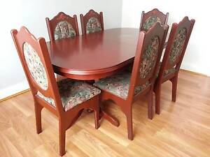 7 pieces dinning set, table extendable Ryde Ryde Area Preview