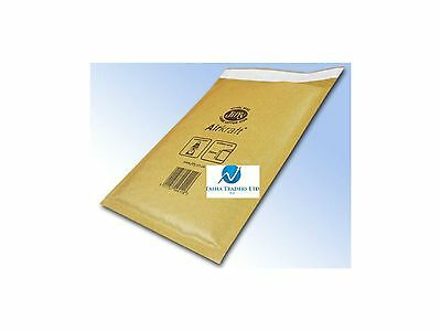 5 JL1 Gold Brown 200 x 260mm Bubble Padded JIFFY AIRKRAFT Postal Bag Envelope
