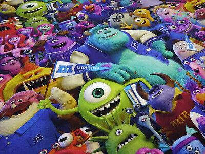 Stoff Baumwolle Jersey Monster AG Pixar Disney bunt Kinderstoff Kleiderstoff