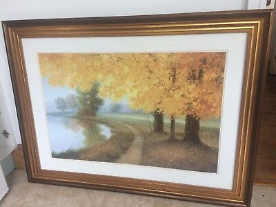 painting print Meadow Lake by Samuel art and beautiful professionally made frame