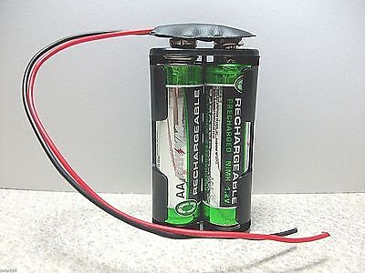 3.0 Volt DC Battery Holder 2xaa Snap Snap FIT X Side NEW B10
