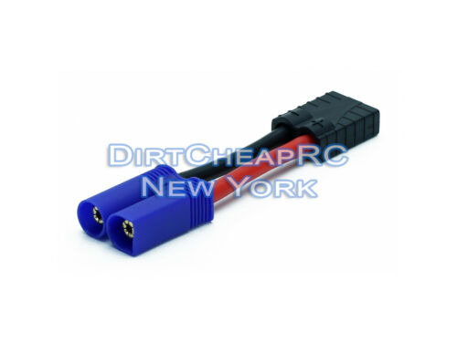 High Current Adapter: Traxxas Female to EC5 IC5 12AWG: EC-5 IC-5 TRX ID ESC LiPo