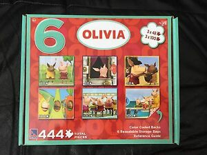 NEW in Box Olivia Puzzles (6) -$10