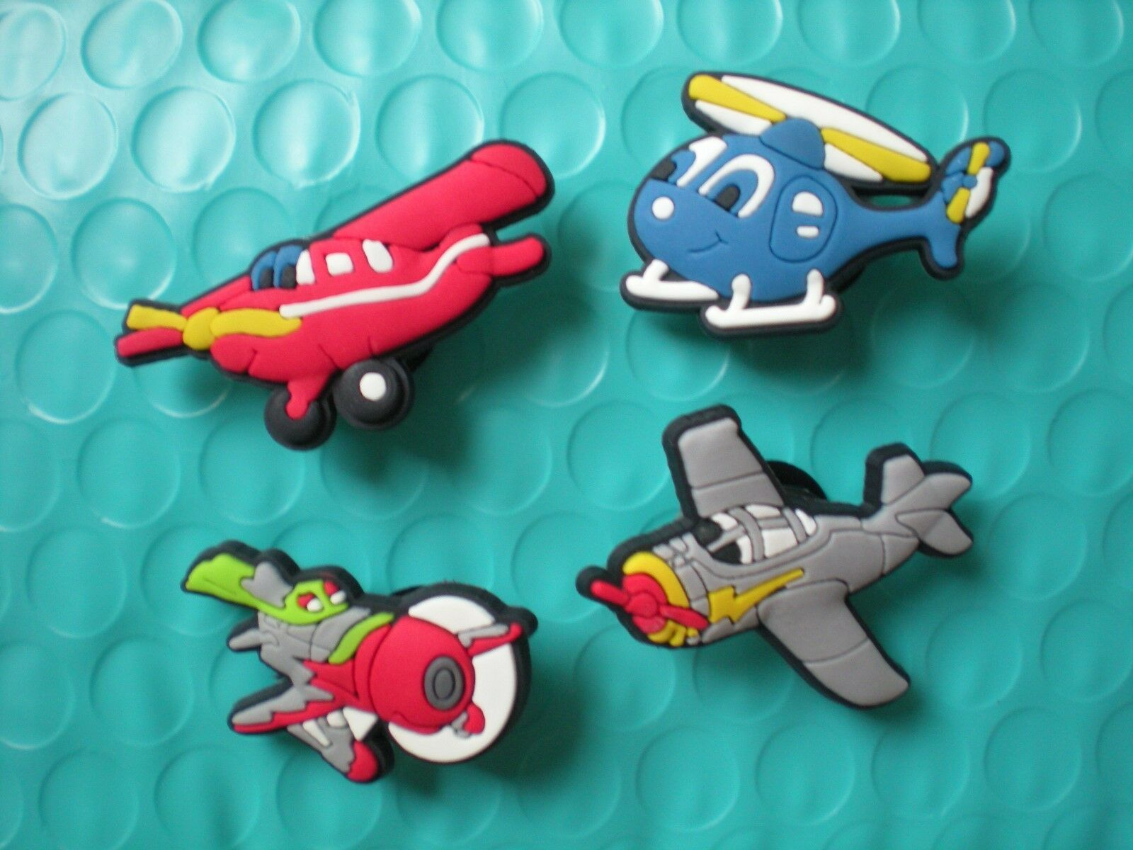 4 Planes Shoe Charm Fit Kid Clog Belt WristBand Accessories W//Hole Lace adapter