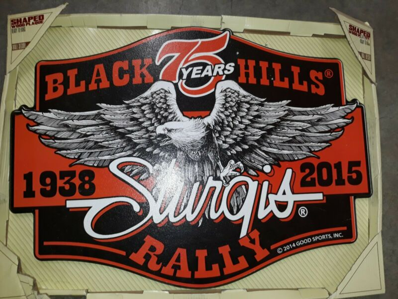 Sturgis 75th Anniversary Wood Sign Motorcycle Rally NEW RARE 2015