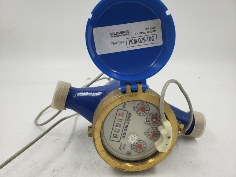 Pumps & Controls Water Meter PCM-075-10G