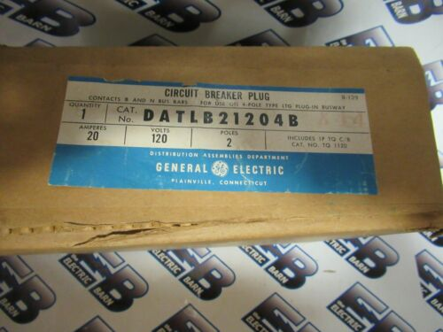 GE DATLB21204B, 20 Amp, 120 Volt, 2 Pole, Circuit Breaker Bus Plug - NEW-B