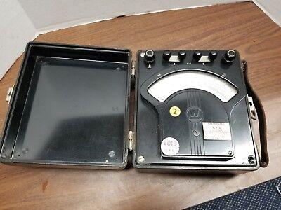 Westinghouse Ampsamperes  Ammeter J-7 Vintage Test Set 1