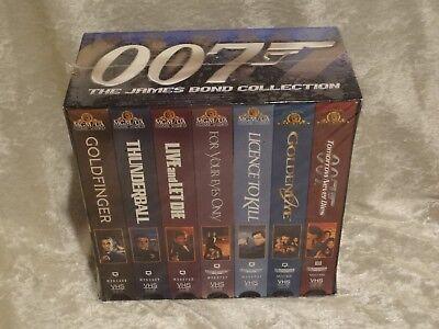 New & Sealed James Bond Collection 007 Gift Set - Vol. 1 (VHS, 1999, 7-Tape Set)