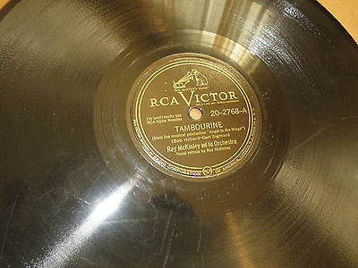 78RPM RCA Victor Ray McKinley, Tambourine /Man Could B Wonderful Thing clean VV+