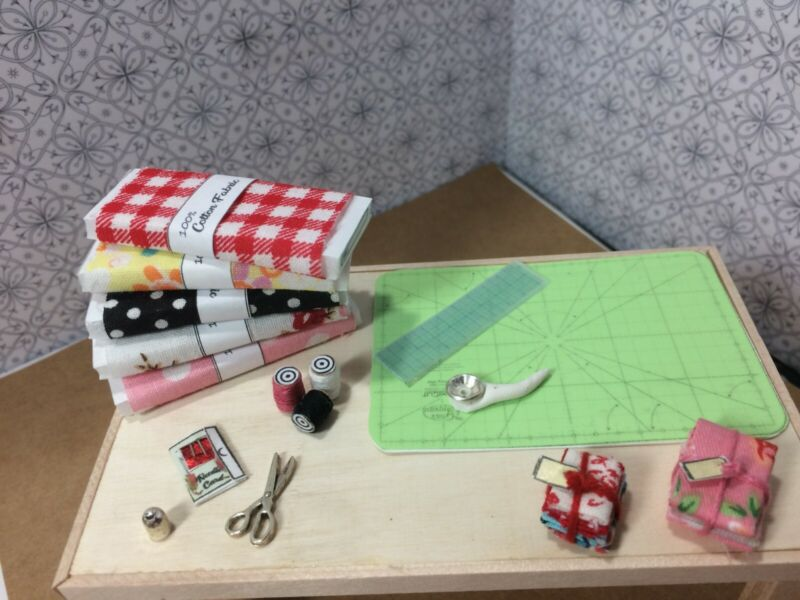 Miniature Dollhouse 1:12 sewing lot 16 pcs