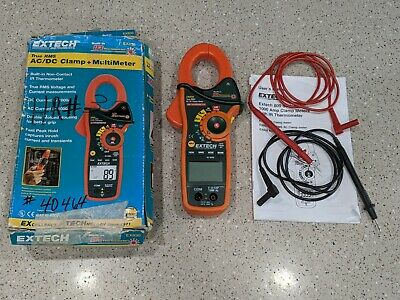 Extech Instruments 1000 Amp Clamp Meter Wir Thermometer-true Rms Ex830