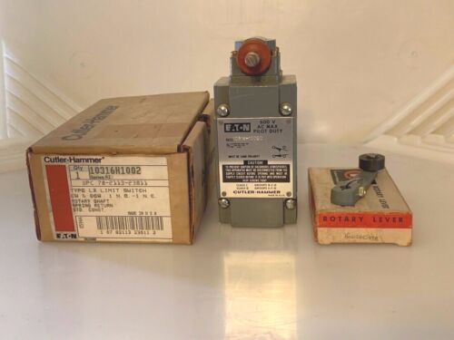 Cutler-Hammer 10316H1002 Limit Switch With 10316H547A Roller Lever 10316H1002C