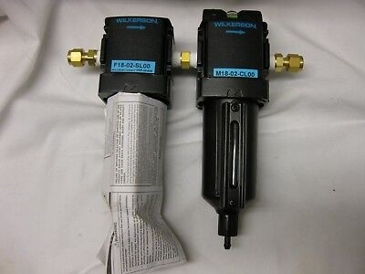 Compressed Air Filters Set W Wilkerson F18-02-sl00 M18-02-cloo