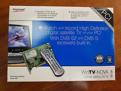 Happauge! WinTV-Nova-HD-S2 Model 229 Digital Satellite TV Tuner PCI Card