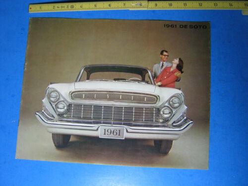 1961 DeSOTO DE SOTO CHRYSLER  BROCHURE SOME WEAR TO COVER